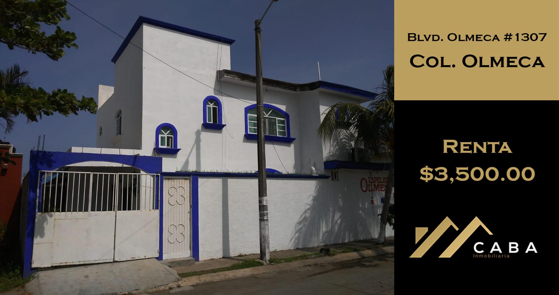 Casa en Renta en Col. Olmeca, Coatzacoalcos, Ver.