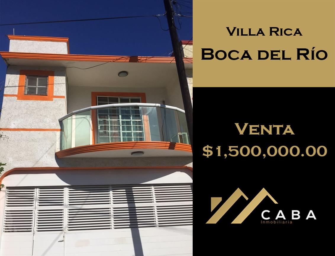 Casa en Venta en Col. Villa Rica, Boca del Río, Ver.