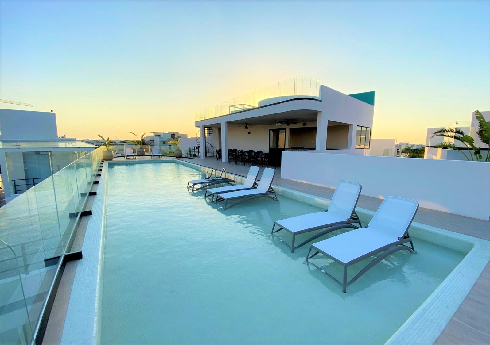Departamento de 2 recamaras en venta cerca del mar en Riviera Maya Playa del Carmen para inversión