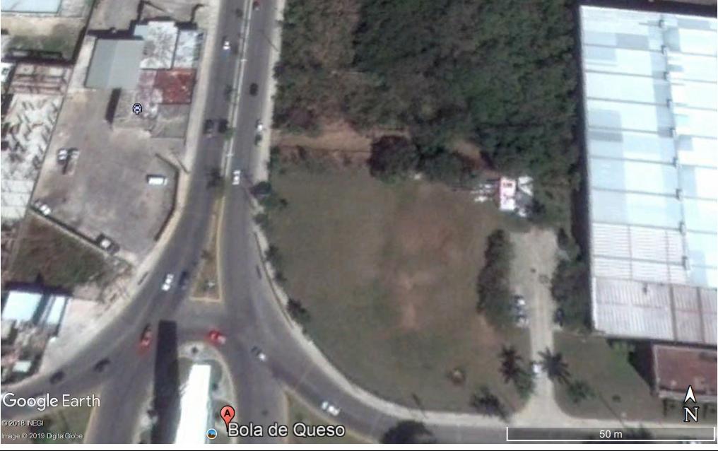 Se vende el mejor Terreno, ubicado frente a la Bola de Queso Campeche