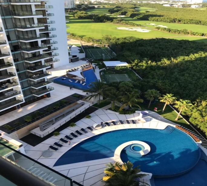 Venta de lujoso departamento en Residencial Be Towers, Puerto Cancún