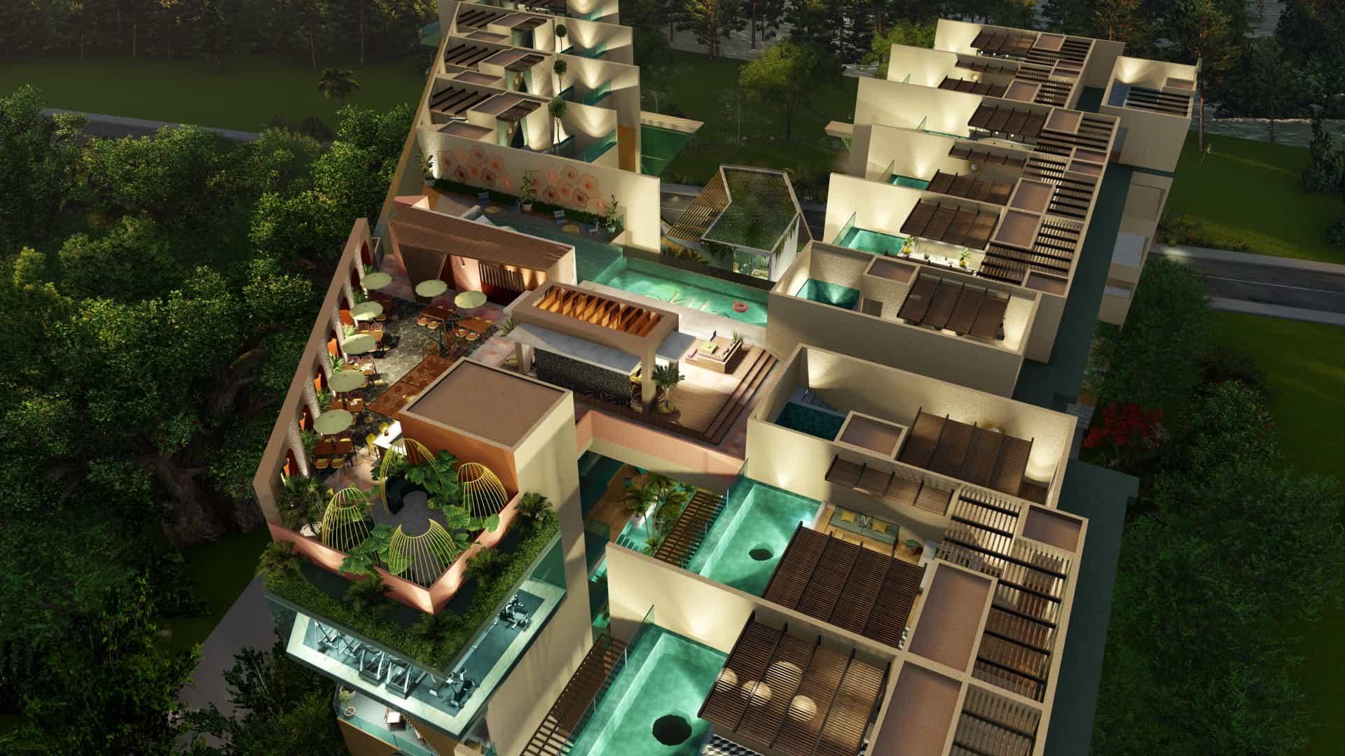 Se vende departamento de lujo estilo Art Decó con tecnología sustentable en Playa del Carmen, Quintana Roo